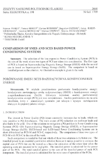 Comparison of SMES and SCES based power conditioning systems