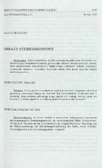 Obrazy stereoskopowe