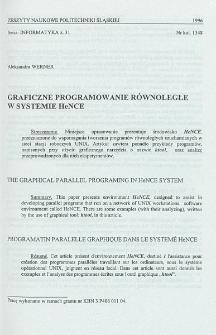 Graficzne programowanie równoległe w systemie HeNCE
