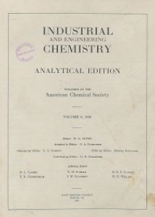 Industrial and Engineering Chemistry : analytical edition, Vol. 8, No. 5