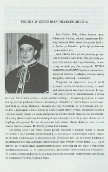 Polska w życiu Jean Charles Gille'a
