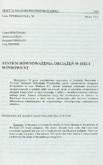 System równoważenia obciążeń w sieci Windows NT
