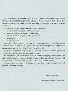 [IV Ogólnopolskie Seminarium Sieci Komputerowe...]