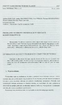 Problemy ochrony informacji w sieciach komputerowych