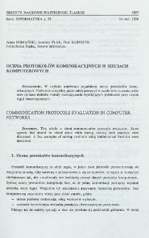 Ocena protokołów komunikacyjnych w sieciach komputerowych