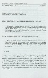 FTAM - protokół przesyłu i zarządzania plikami