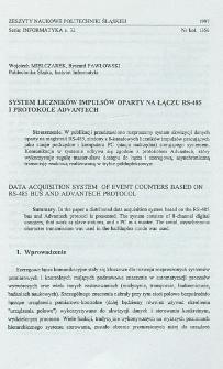 System liczników impulsów oparty na łączu RS-485 i protokole Advantech
