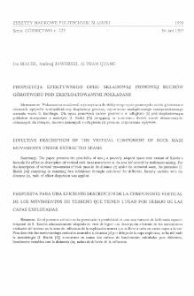 Propozycja efektywnego opisu składowej pionowej ruchów górotworu pod eksploatowanymi pokładami