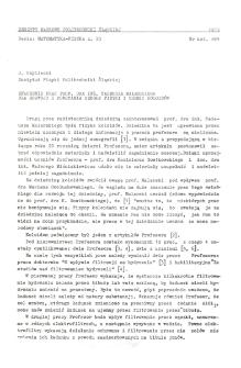 Znaczenie prac prof. dra inż. Tadeusza Malarskiego dla rozwoju i powstania szkoły fizyki i chemii koloidów