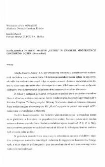"""Możliwości Fabryki Maszyn """"Glinik"""" w zakresie modernizacji osadników Dorra (Komunikat)"""