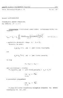 Wielomianowe metody iteracyjne dla równania xn - A = 0