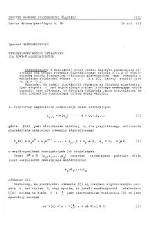 Wielomianowe metody iteracyjne dla równań algebraicznych
