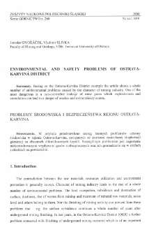 Environmental and safety problems of Ostrava-Karviná District
