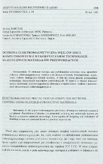 Ochrona elektromagnetyczna węzłów sieci komputerowych z wykorzystaniem technologii elastycznych materiałów przewodzących