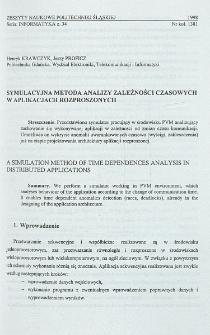 Symulacyjna metoda analizy zależności czasowych w aplikacjach rozproszonych