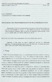Protokoły do transmisji danych multimedialnych