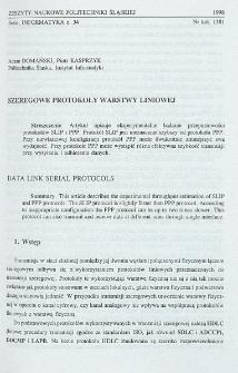 Szeregowe protokoły warstwy liniowej