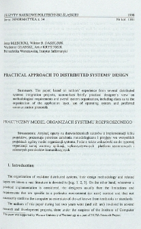 Practical approach to distributed systems' design