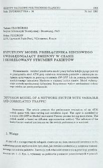 Dyfuzyjny model przełącznika sieciowego uwzględniający zmienny w czasie i skorelowany strumień pakietów