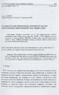 Wykorzystanie środowiska SMURPH w ocenie efektywności protokołów MAC DQDB i FDDI