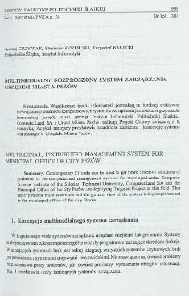 Multimedialny rozproszony system zarządzania Urzędem Miasta Pszów