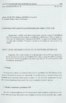 O pewnej implementacji interfejsu sieci typu FIP