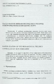 Stacja master hierarchicznej sieci polowej sterowanej rozkazami języka SCPI