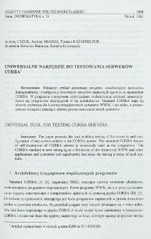 Uniwersalne narzędzie do testowania serwerów CORBA
