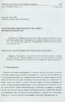 Konwertery protokołów dla sieci bezprzewodowych