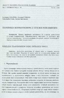Transmisja bezprzewodowa z użyciem podczerwieni