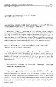 Koncepcja częściowej eksploatacji zasobów filara ochronnego dla miasta Jastrzębia Zdroju