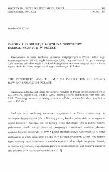 Zasoby i produkcja górnicza surowców energetycznych w Polsce