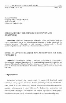 Obliczanie sieci rurociągów odmetanowania górotworu