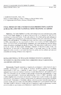 Coal mines of the United States production, safety & health, and the National Mine Training Academy