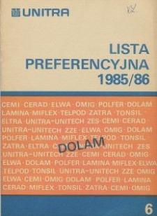 Lista preferencyjna 1985/86