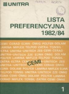 Lista preferencyjna1982/84
