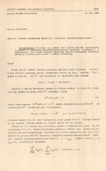 Obiekty liniowe jednorodne geometrii podwójnie pseudostochastycznej