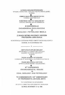 III Konferencja Zagadnienia Ekologiczne w Geologii i Petrologii Węgla z Okazji Setnej Rocznicy Urodzin Profesora Jana Kuhla