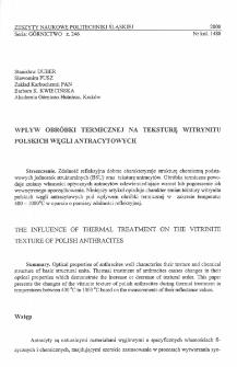 Wpływ obróbki termicznej na teksturę witrynitu polskich węgli antracytowych