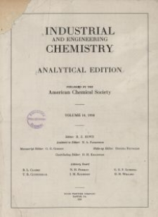 Industrial and Engineering Chemistry : analytical edition, Vol. 10, No. 5