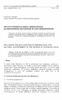 Wpływ wydobycia węgla brunatnego na środowisko naturalne w Łuku Mużakowskim
