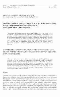Zróżnicowanie jakości węgla w pokładach 407/1 i 507 niecki bytomskiej Górnośląskiego Zagłębia Węglowego (GZW)