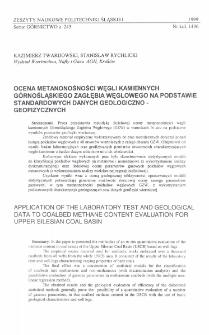 Ocena metanonośności węgli kamiennych Górnośląskiego Zagłębia Węglowego na podstawie standardowych danych geologiczno-geofizycznych