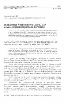 Środowisko wodne niecki głównej GZW w warunkach eksploatacji górniczej