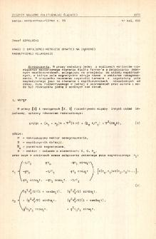 Uwagi o impulsowej metodzie opartej na jądrowej magnetycznej relaksacji