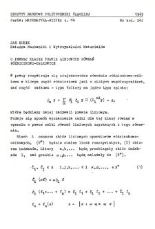 O pewnej klasie prawie liniowych równań różniczkowo-całkowych