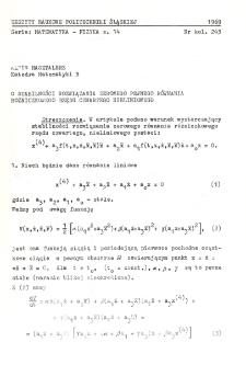 O stabilności rozwiązania zerowego pewnego równania różniczkowego rzędu czwartego nieliniowego