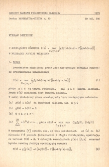 O rozwiązaniu równania f (x) = max {g(y)+h(x-y)+ f[ay+b(x-y)]} 0 ⩽y⩽x w przypadku funkcji wklęsłych