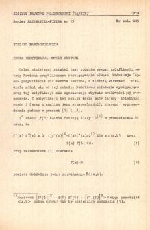 Pewna modyfikacja metody Newtona