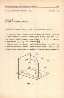 Konstrukcja kwadryki dla danych dziewiciu jej punktów